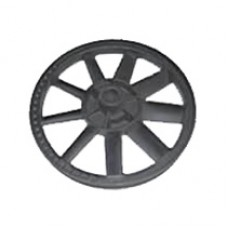 Campbell 1-HP 2-Gallon Twin Stack Air Compressor flywheel