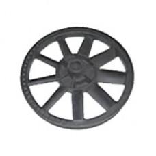 Campbell 15-HP 120-Gallon Rotary Air Compressor flywheel